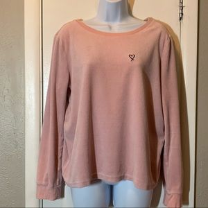 Victorias Secret Velour Crossback Top Pink L